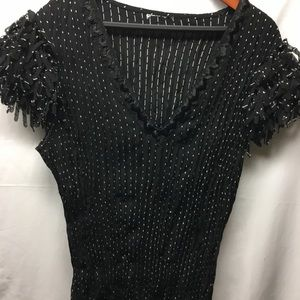 Tops - Dressy black lace shirt